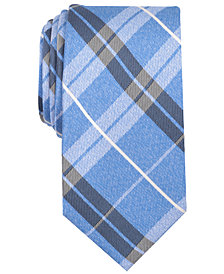Nautica Men's Veloce Plaid Silk Tie