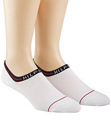 Tommy Hilfiger Men's 2 Pack No-Show Liner Socks