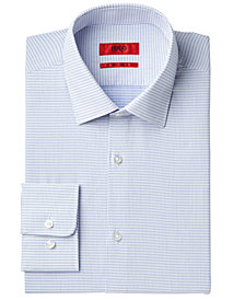 HUGO Men's Slim-Fit White Dot Dress Shirt