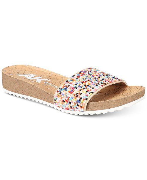Anne Klein Sport Qtee Wedge Slip-On Sandals