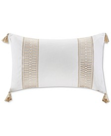"Anslee 12"" x 20"" Embroidered Oblong Decorative Pillow"