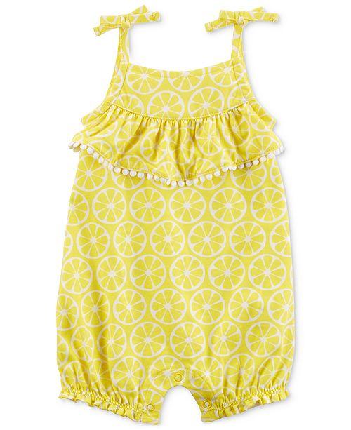 f98cfa9e9 Carter's Lemon-Print Cotton Romper, Baby Girls & Reviews - All Baby ...