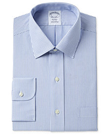 Brooks Brothers Men's Milano Extra Slim-Fit Non-Iron Tonal Blue Stripe Dress Shirt