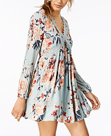 American Rag Juniors' Floral-Print Peasant Dress, Created for Macy's