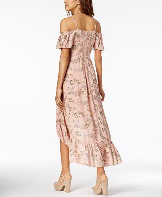 American Rag Juniors Ruffled High Low Maxi Dress Created For