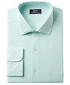 Alfani Men's Classic Fit Performance Twill Textured Dress Shirt, Created for Macy's