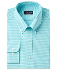 Men's Classic/Regular Fit Performance Mini Gingham Dress Shirt, Created for Macy's