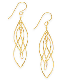 Essentials Gold Plated Interlocking Drop Earrings 5940789
