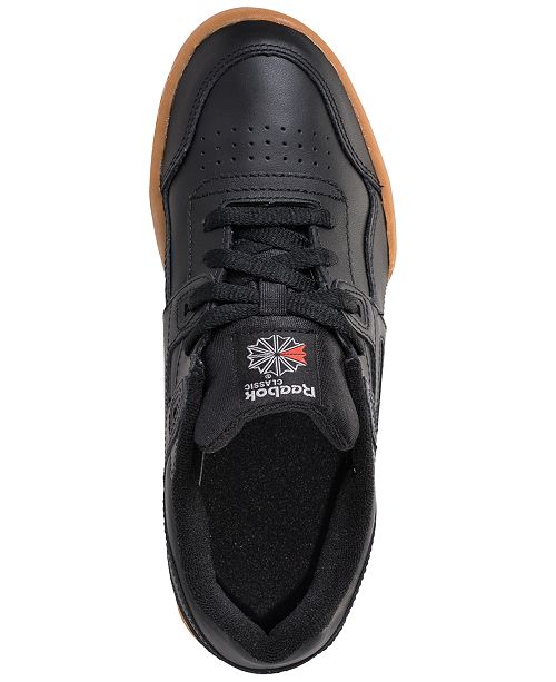 0ec1f744ecec ... Reebok Big Boys  Classics Workout Plus Casual Sneakers from Finish ...