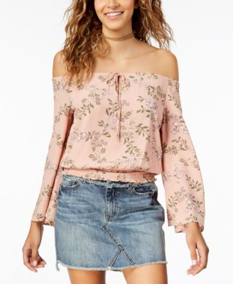 American Rag Juniors Off-The-Shoulder Top
