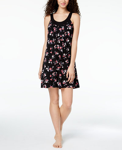 Alfani Printed Pleated Chemise, Created for Macy's