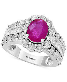 Amoré by EFFY® Ruby (1-9/10 ct. t.w.) & Diamond (9/10 ct. t.w.) in 14k White Gold