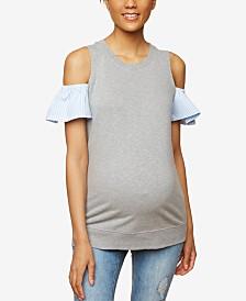 Motherhood Maternity Cold-Shoulder Top