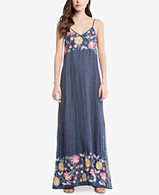 Karen Kane Cotton Embroidered Maxi Dress