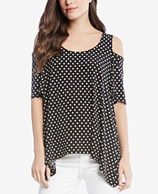 Karen Kane Printed Cold-Shoulder Top