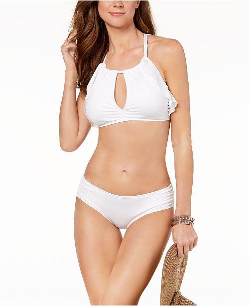 3d2c0e70c9 Carmen Marc Valvo High-Neck Ruffled Bikini Top & Bottoms & Reviews ...