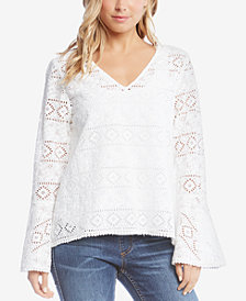 Karen Kane Cotton Lace Top