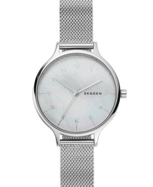 Women'S Anita Stainless Steel Mesh Bracelet Watch 36Mm, Silver
