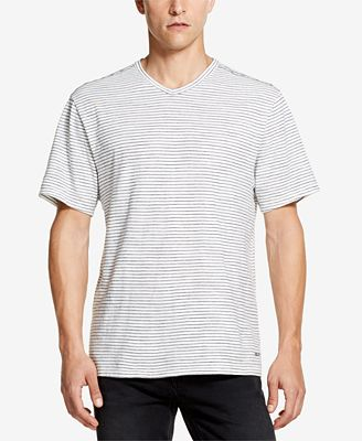 DKNY TEXTURED COTTON V-NECK