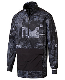 Puma Men's Energy Printed Half-Zip Windbreaker