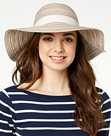 I.N.C. Metallic Textured Packable Hat, Created for Macy's
