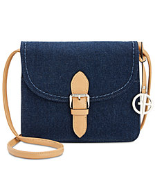 Giani Bernini Denim Conflap Zip Organizer, Created for Macy's