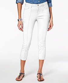 Style & Co Petite Front-Seam Capri Jeans, Created for Macy's