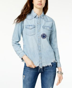 WESTERN SMILEY DENIM SHIRT