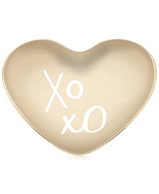 kate spade new york All That Glistens XOXO Heart Dish
