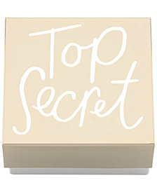 kate spade new york All That Glistens Top Secret Covered Box