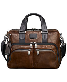 Tumi Men's Alpha Bravo Albany Slim Leather Briefcase