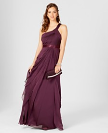 3c52e6f465a Adrianna Papell One-Shoulder Tiered Chiffon Gown