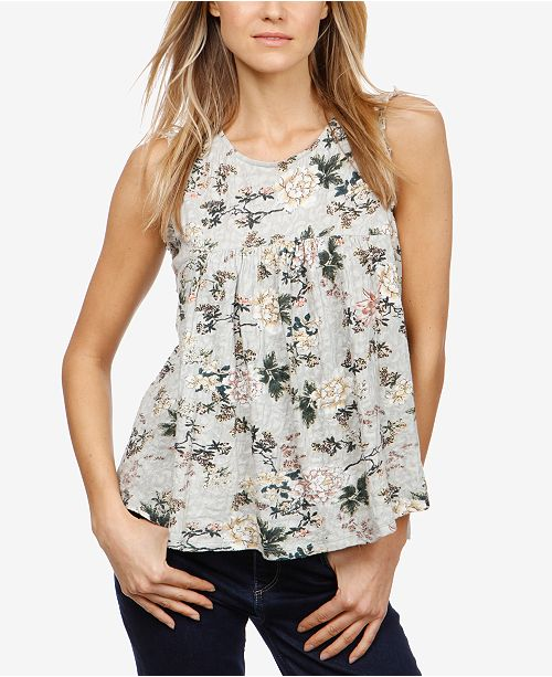 185073a1f Lucky Brand Cotton Floral-Print Swing Top & Reviews - Tops - Women ...