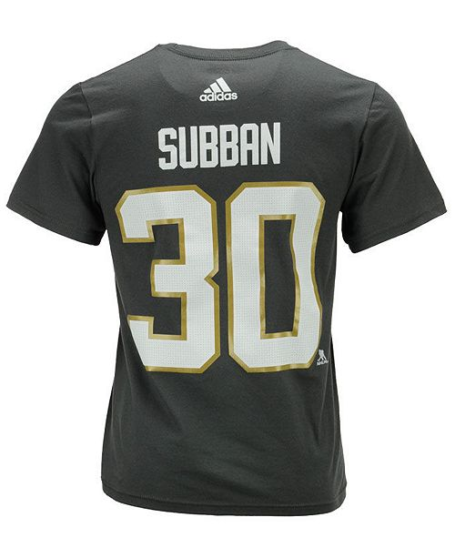 low priced 07cf0 8277f Men's Malcolm Subban Vegas Golden Knights Silver Player T-Shirt