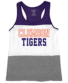 Blue 84 Women's Clemson Tigers Racerback Panel Tank Top