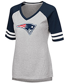 G-III Sports Women's New England Patriots Foil Primary Logo T-Shirt