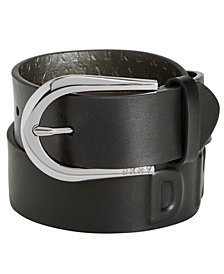 DKNY Puffed Logo Belt, Created for Macy's