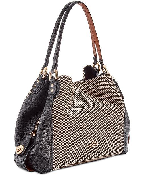 778c265495 COACH Legacy Jacquard Edie 31 Medium Shoulder Bag & Reviews ...