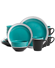 Gibson Color Eclipse Blue 16-Pc. Dinnerware Set, Service for 4