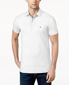 Tommy Hilfiger Men's Slim-Fit Stretch Logo Polo Shirt