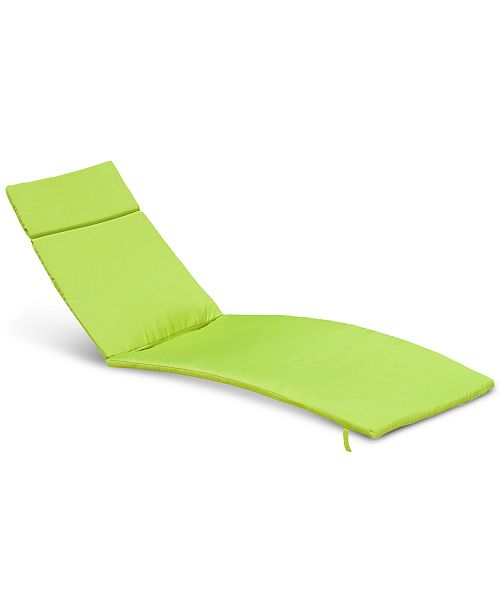 Furniture Paulina Outdoor Chaise Lounge Cushion, Quick Ship