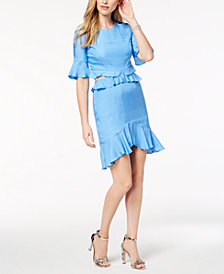 Bardot Ruffled Cutout Dress