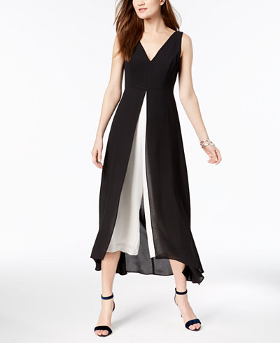 Adrianna Papell Two-Tone Jumpsuit