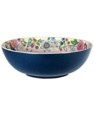 Coral Floral Melamine Serving Bowl