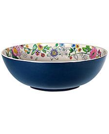 Vera Bradley Coral Floral Melamine Serving Bowl