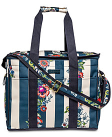 Vera Bradley Midnight Floral Stripe Insulated Cooler Bag