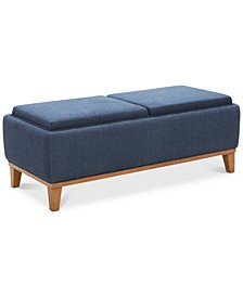 Jollene Fabric Storage Cocktail Ottoman, Created for Macy's