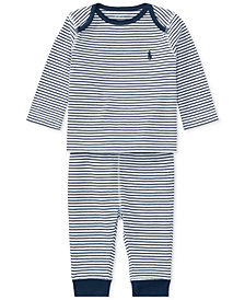 Ralph Lauren Striped Top & Pants Set, Baby Boys