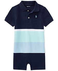Polo Ralph Lauren Colorblocked Cotton Romper, Baby Boys