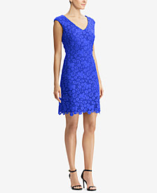 Lauren Ralph Lauren Floral-Lace Dress, Regular & Petite Sizes